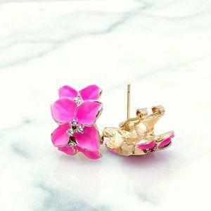 Hot Punk Floral Earrings